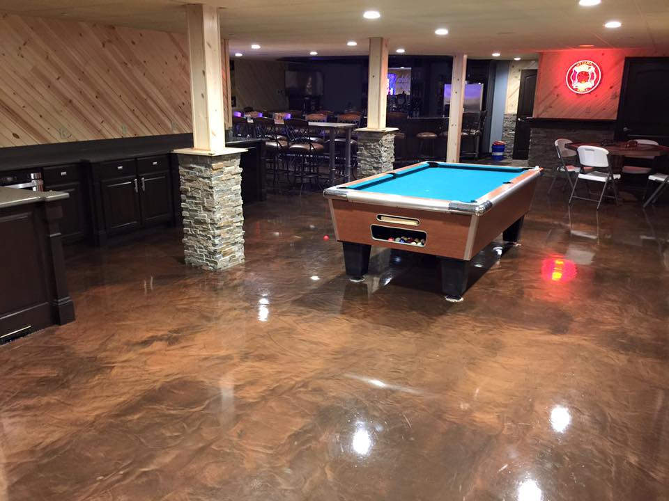 Metallic Marble Epoxy Commercial Flooring | BelleFontaine Ohio
