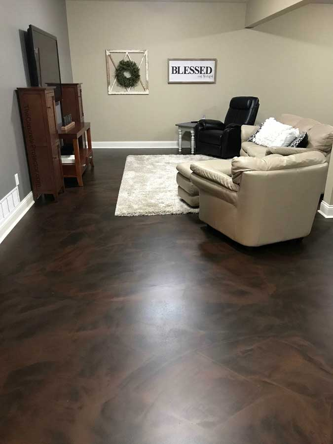 Metallic Marble Epoxy Flooring | Sidney Ohio