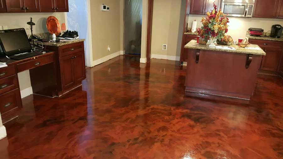 Metallic Marble Epoxy Flooring | Piqua Ohio